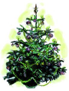 Weihnachtsbaum - Illustration von Tabea Peitz